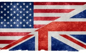 английский, американский, британский, флаг, American English, British English